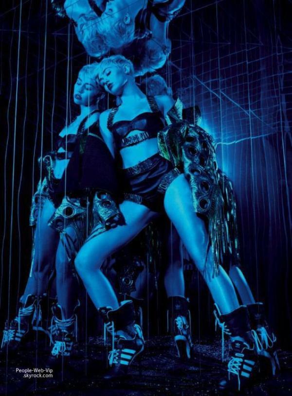 """Miley Cyrus : Découvrez les photos de son photoshoot pour le magazine """"Elle US """" Qu'en pensez vous ?"""