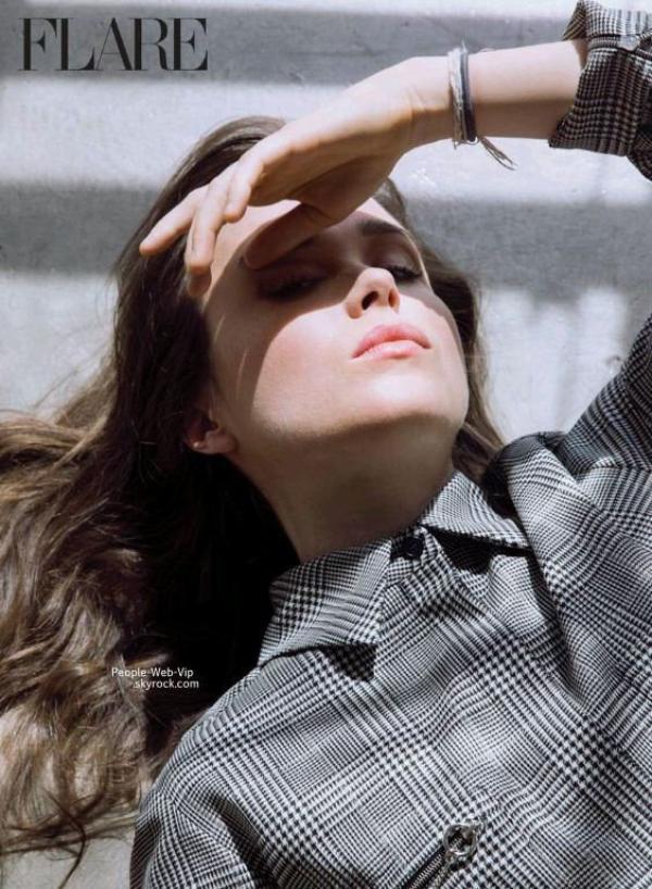 """Ellen Page en couverture du magazine """" Flare""""  Qu'en pensez vous ?"""