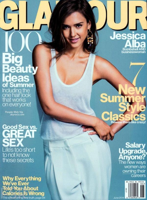 """JESSICA ALBA  En couverture du magazine """" Glamour """"  Qu'en pensez vous ?"""