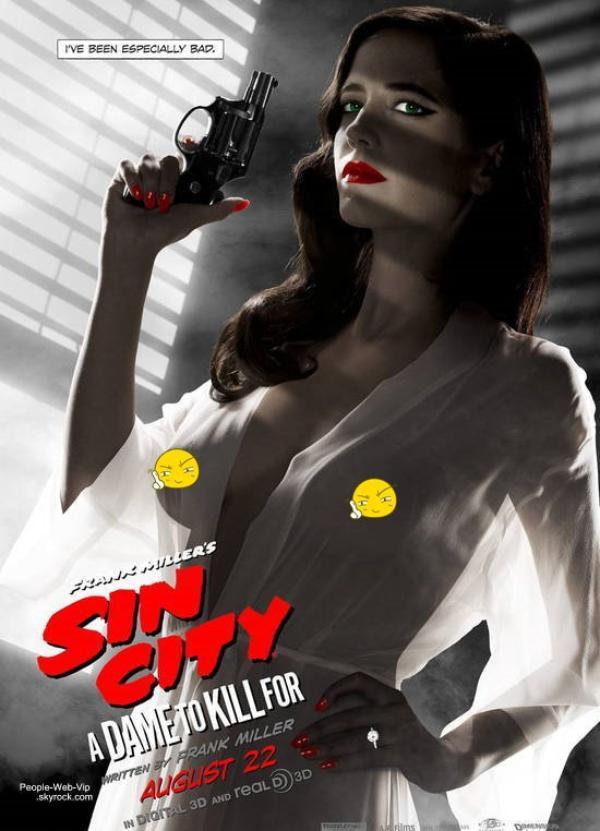 POLÉMIQUE : Cette affiche de «Sin City 2» fait polémique aux Etats-Unis à cause de la nudité d'Eva Green