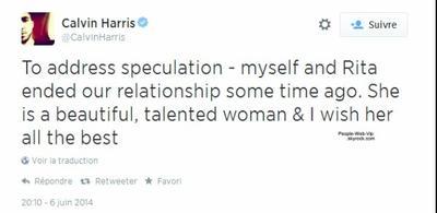 Rita Ora et Calvin Harris: Ils se séparent !