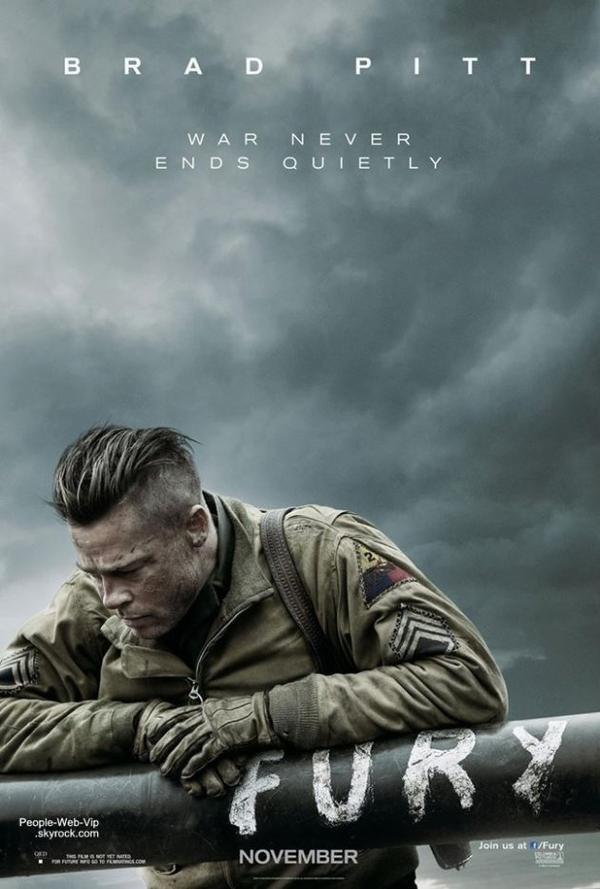 """> BANDE ANNONCE  Découvrez la bande annonce du film """" FURY """" : Les aventures de cinq militaires pendant les derniers jours de la Seconde Guerre mondiale avec Brad Pitt, Shia LaBeouf et Logan Lerman. Le film de guerre est attendu le 22 octobre dans les salles obscures."""