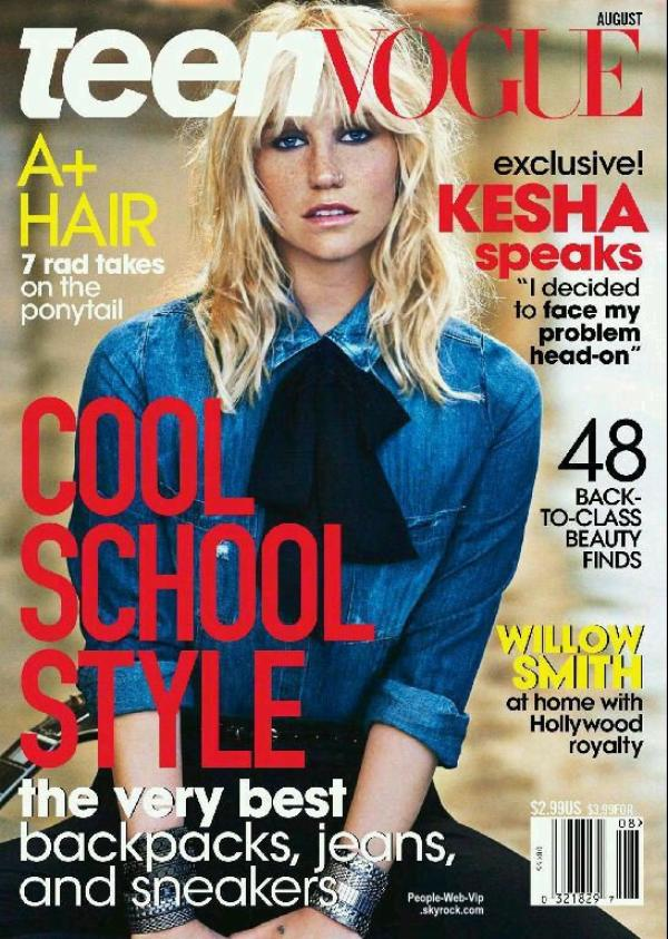 """Kesha en couverture du magazine """" Teen Vogue """" Qu'en pensez vous ?"""