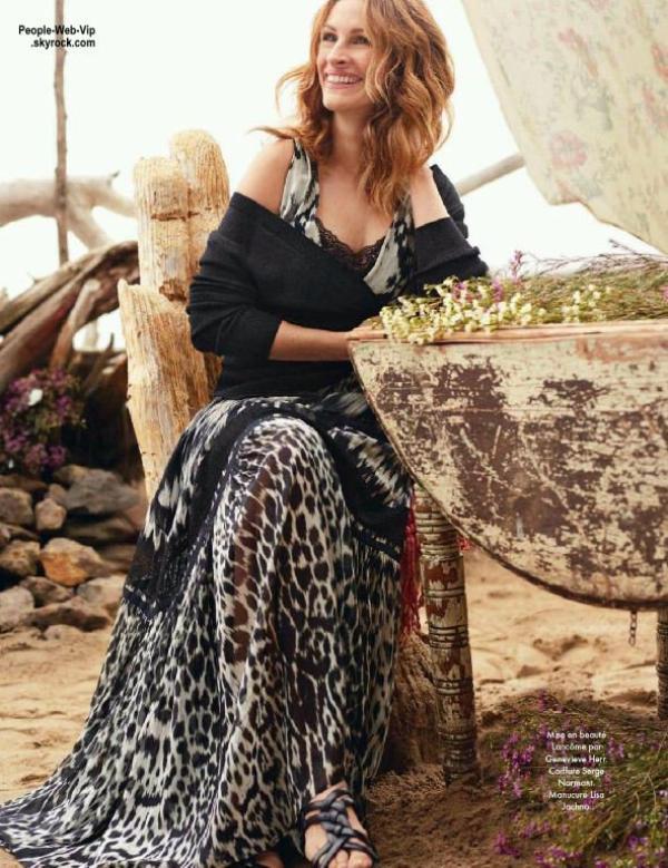 """Julia Roberts est en couverture du magazine """" Elle France """" Qu'en pensez vous ?"""
