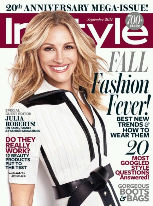 """Julia Roberts est en couverture du magazine """" InStyle """" Qu'en pensez vous ?"""
