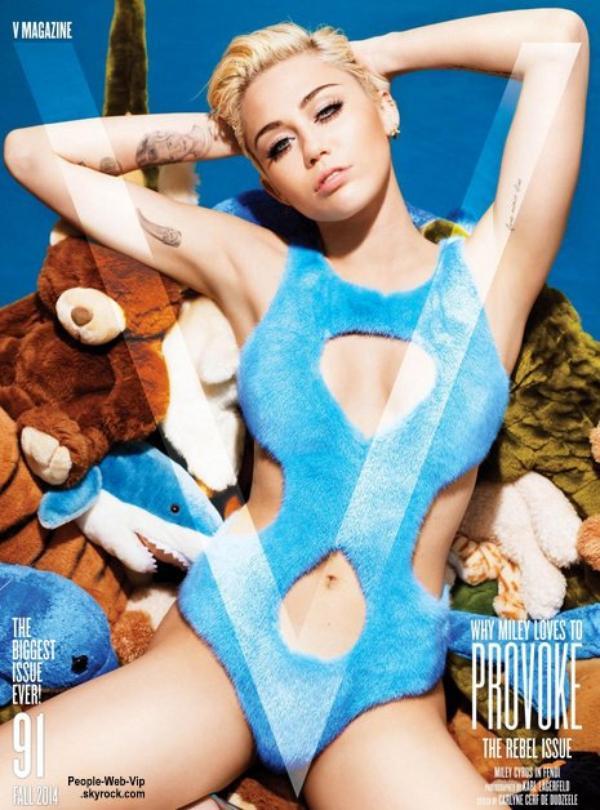 """Miley Cyrus pose pour le magazine """" V """" Qu'en pensez vous ?"""