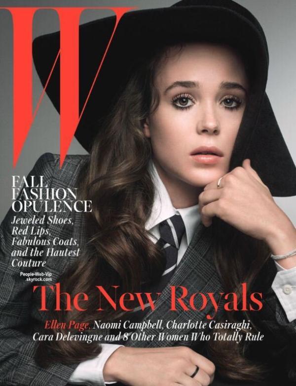 """Ellen Page en couverture du magazine """" W """"  Qu'en pensez vous ?"""