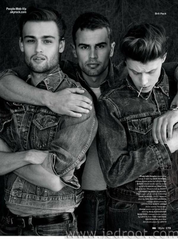 """Douglas Booth, Theo James et George MacKay  En couverture du magazine """" GQ Style """"  Qu'en pensez vous ?"""