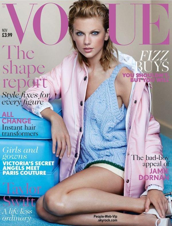"""Taylor Swift est en couverture du magazine """" Vogue UK """" Qu'en pensez vous ?"""