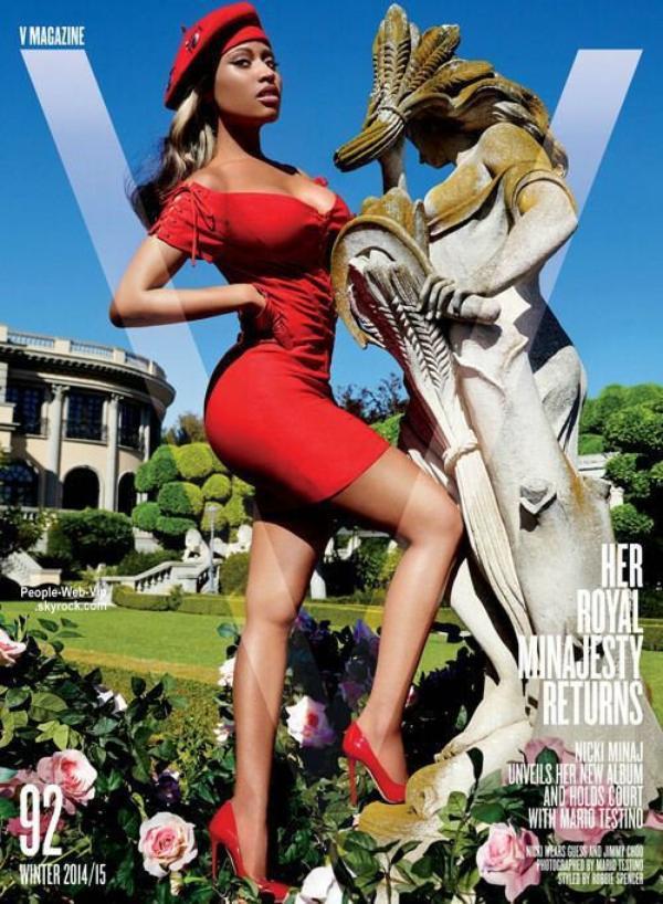 Nicki Minaj est en couverture du numéro d'hiver # 92 du magazine V. Qu'en pensez vous?