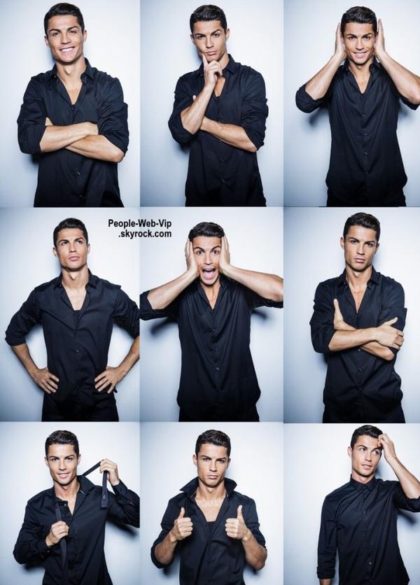 """Cristiano Ronaldo dévoile le photo shoot de sa dernière collection pour  sa marque """"CR7 Shirts collection.""""  On y aperçoit sa petite amie, Irina Shayk.  Qu'en pensez vous ?"""