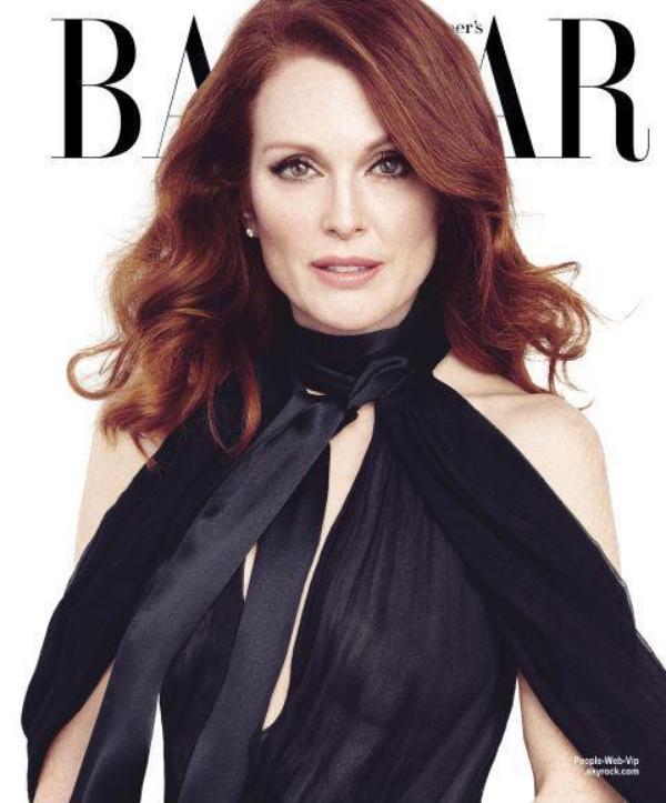 Julianne Moore orne la couverture du numéro d'Avril du magazine américain Harper Bazaar. Qu'en pensez vous?