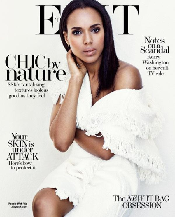 "Kerry Washington orne la couverture du dernier numéro du magazine ""The Edit "". Photographié par Bjorn Iooss, Kerry pose avec les marques Stella McCartney, The Raw, Lanvin et Loewe. Qu'en pensez vous?"