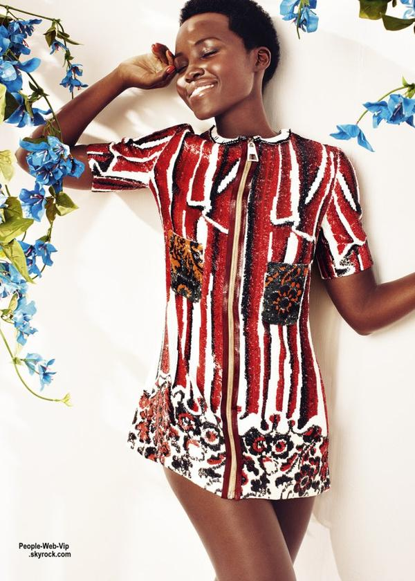 """Lupita Nyong'o orne la couverture du numéro de mai du magazine """"Harper Bazaar UK """" Lupita pose avec les marques Louis Vuitton et Fendi. Qu'en pensez vous?"""