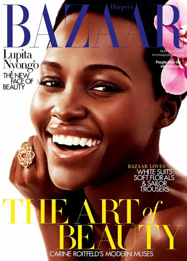 """Lupita Nyong'o pose sur la couverture du magazine """"Harper's Bazaar UK """"  Qu'en pensez vous?"""