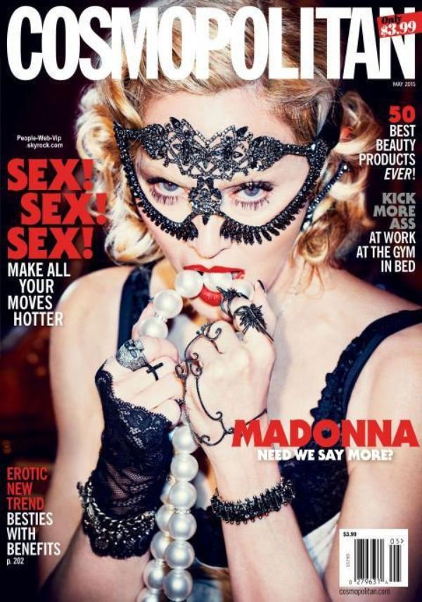 Madonna pose pour le numéro de mai du magazine américain Cosmopolitan. Pour son éditorial, ci-dessous, Madonna est torride sous la lentille de la caméra du photographe Ellen Worth, vêtu de styles audacieux de Stella McCartney, N ° 21, Altuzarra, Alberta Ferretti, Burberry, Agent Provocateur, Philip Treacy, Brian Atwood et Miu Miu. Qu'en pensez vous?