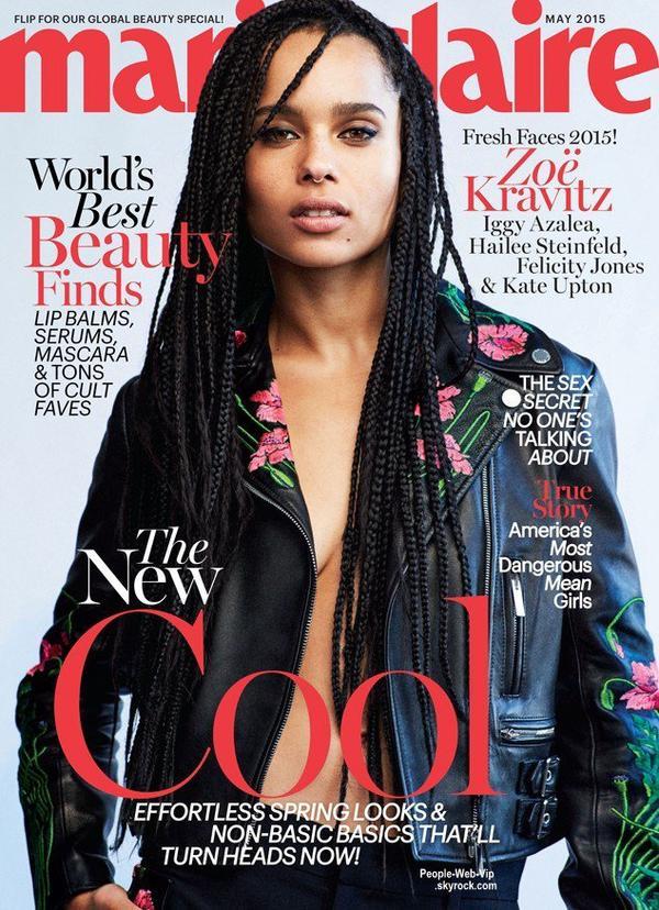 """Iggy Azalea et Zoe Kravitz posent sur l'une des couvertures du numéro de mai du magazine américain  """"Marie Claire"""" Qu'en pensez vous?"""