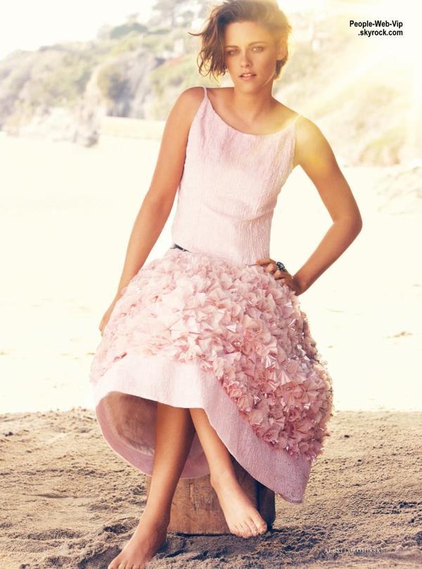 """Kristen Stewart, toute jolie sur la couverture du numéro de Juin du magazine """"Harper's Bazaar""""   Qu'en pensez vous?"""