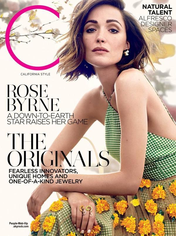 """Rose Byrne orne la couverture du dernier numéro du magazine """"CStyle"""" de Californie. Pour son éditorial, Rose pose avec les marques Miu Miu, Dior, Delpozo, Bottega Veneta, Oscar de la Renta et Prada. Qu'en pensez vous?"""