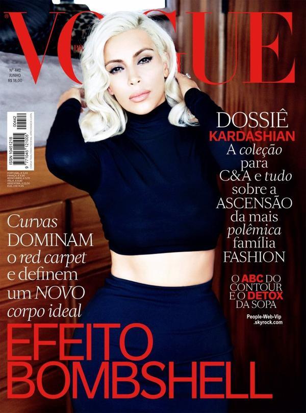 Kim Kardashian pose sur la couverture du numéro de Juin du magazine Vogue Brésil. Qu'en pensez vous?