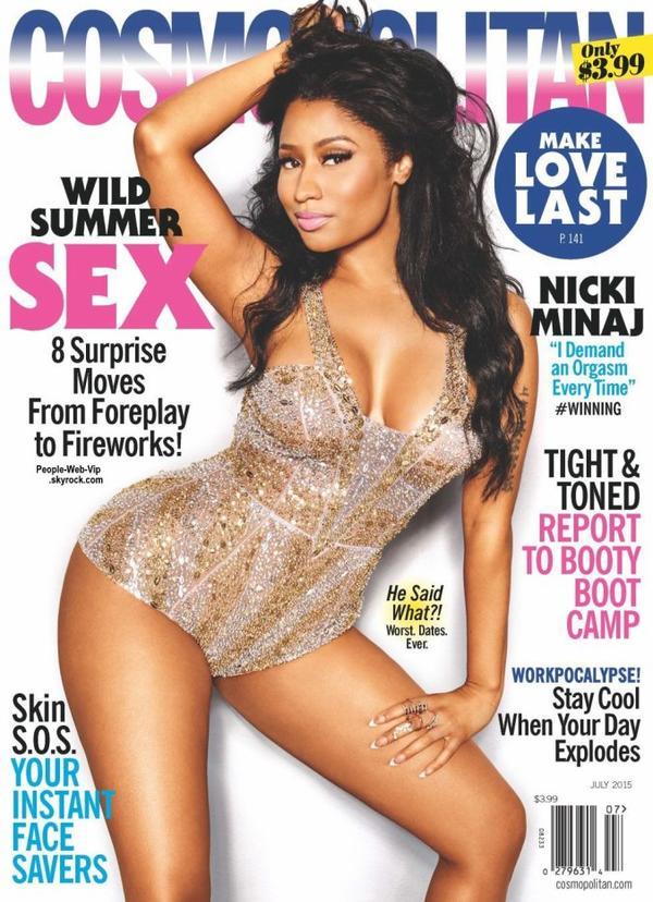 """Nicki Minaj prend la pose pour le magazine """" Cosmopolitan""""  en kiosque 9 juin. On aime ?"""