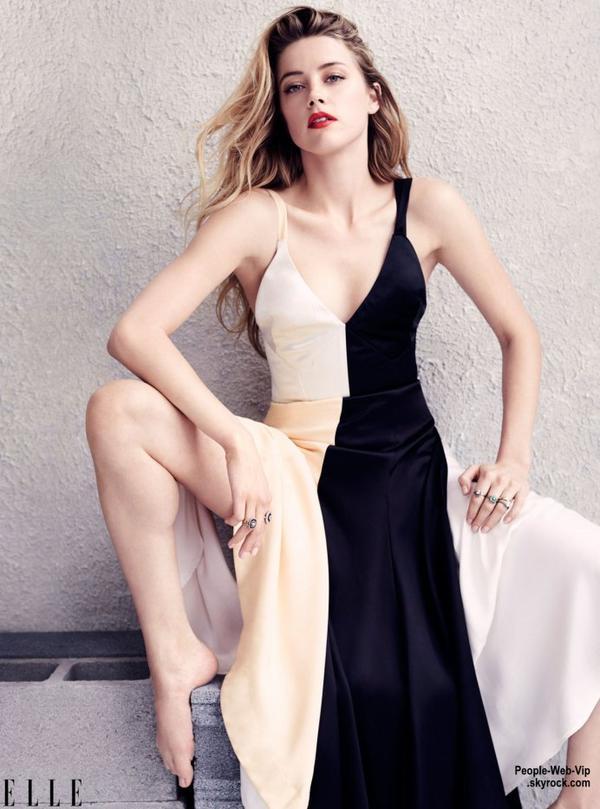 Amber Heard pose sur la couverture de Juillet du magazine Elle. On aime?