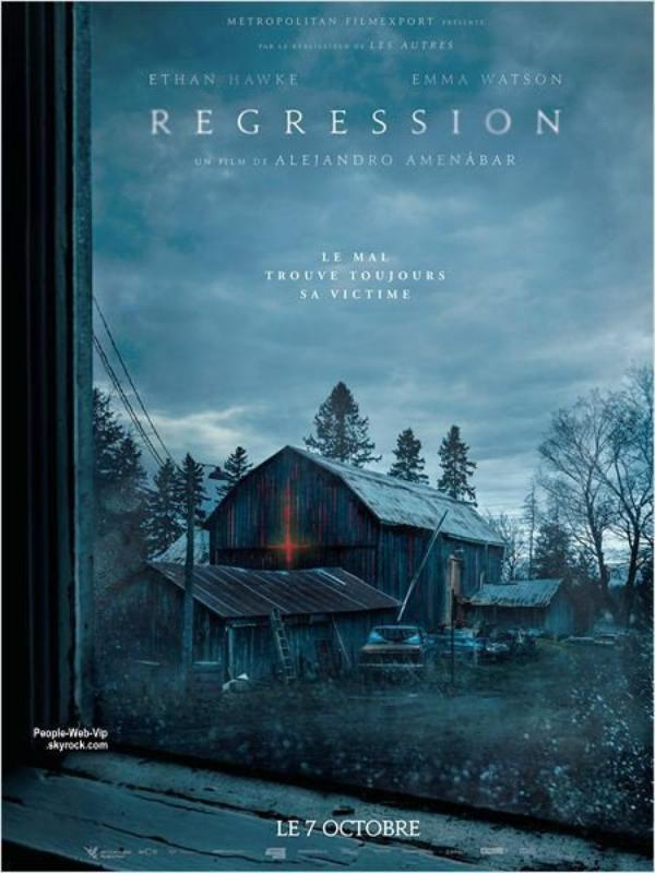 """"""" Regression """" Découvrez la première afficihe du film avec Emma Watson !"""