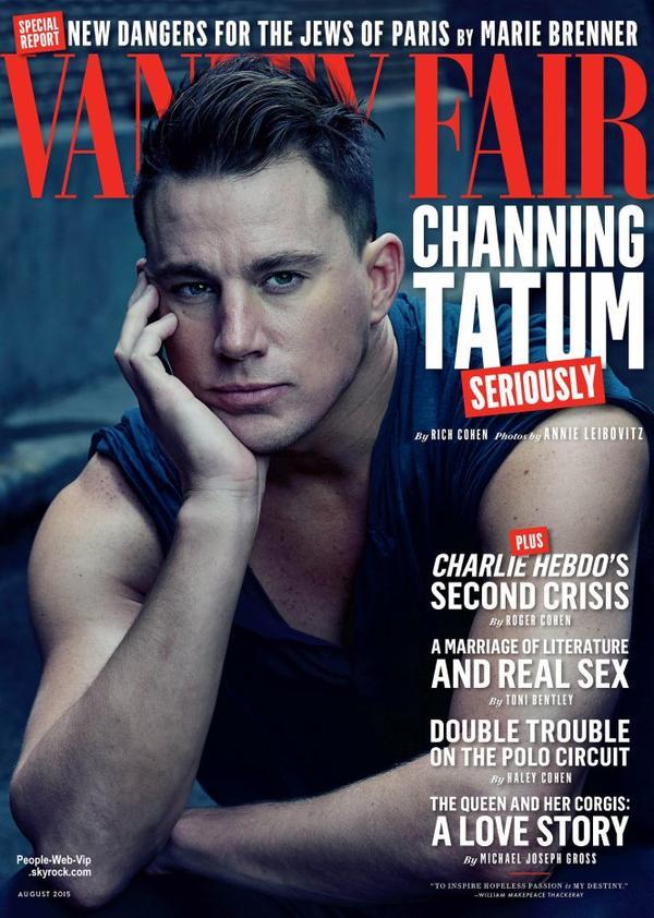 """Channing Tatum prend la pose pour le magazine """" Vanity Fair """" Qu'en pensez vous?"""