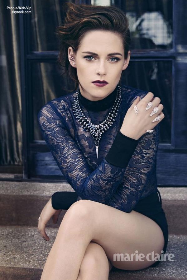 Kristen Stewart prend la pose pour la couverture de Août du magazine Marie Claire. Qu'en pensez vous?