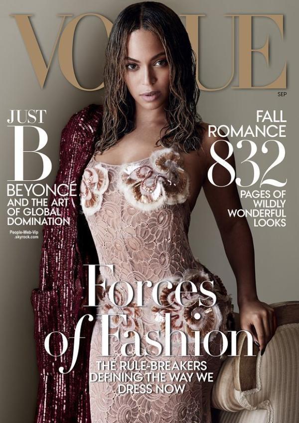 Beyonce prend la pose sur la couverture de Septembre pour le magazine Vogue, en kiosque le 25 Août. Qu'en pensez vous?