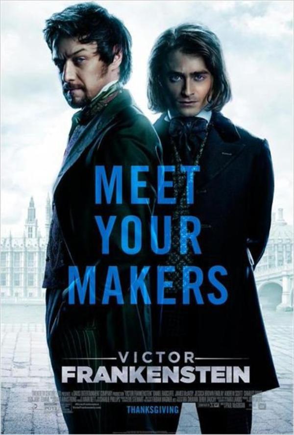 """"""" Victor Frankenstein """"  Date de sortie le 25 novembre 2015 //  Réalisé par Paul McGuigan // Avec James McAvoy, Daniel Radcliffe."""
