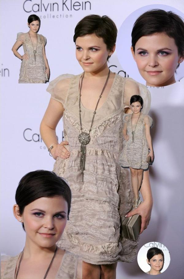 Ginnifer Goodwin : le 28 janvier 2010 Collections Calvin Klein Homme et Femme printemps 2010