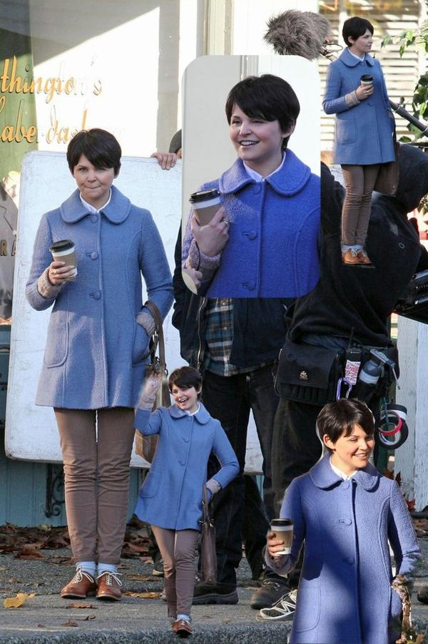 Ginnifer Goodwin : le 15 novembre 2011 pendant le tournage de Once Upon A Time