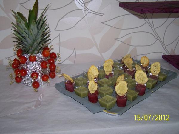Le buffet apéritif....