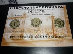 RESULTATS CONCOURS REGIONAL  NANCY  JUGE  M  DELATTRE  ALBERT