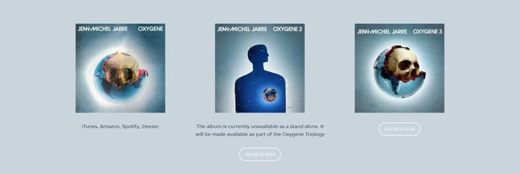 Jean Michel Jarre Oxygène 3 et Oxygène Trilogy