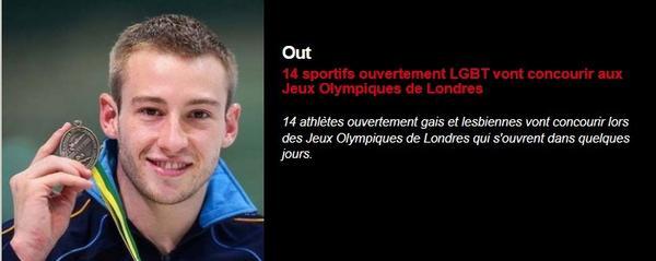 14 sportifs ouvertement LGBT vont concourir aux Jeux Olympiques de Londres ☼