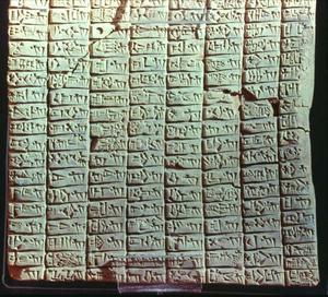 Tablette datée de 2350 avant JC et citant Sodome.