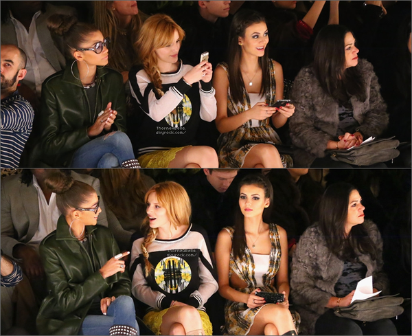 Le 7 février , Bella , Zendaya et Victoria étaient au défilé organiser par Rebecca Minkoff.
