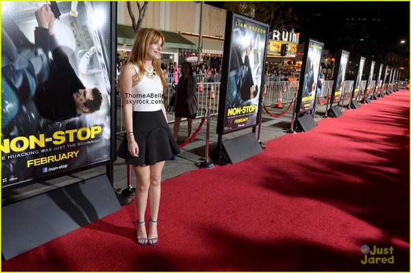 Bella la première de Non-Stop le 14 février 2014 à Los Angeles .