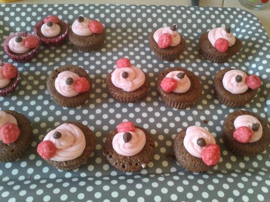 Cupcakes Nutella, Glaçage au fraise tagada !