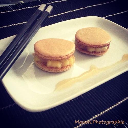 Macaron Pomme Caramélisé , cannelle *-*
