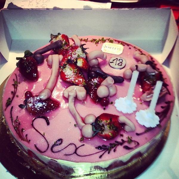 Le gâteau d'anniversaire de Cédric