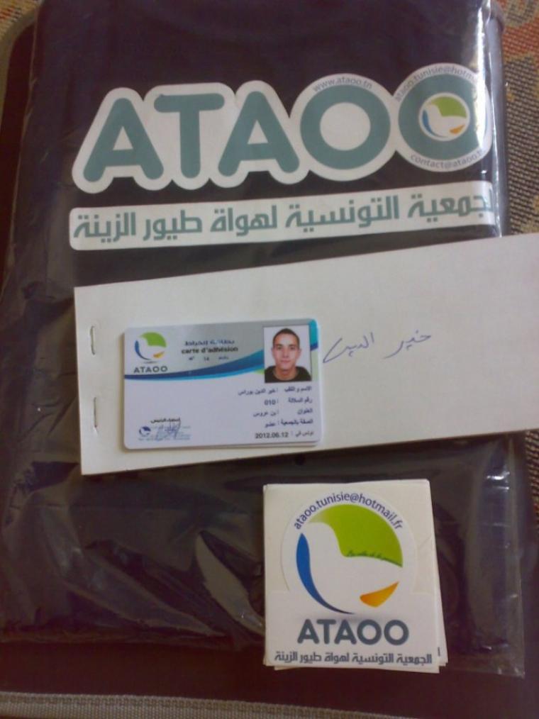 Enfin ma carte d'adhérent +Tee-shirt ATAOO :D