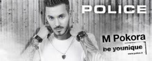 Matt Pokora égérie de la marque Police.
