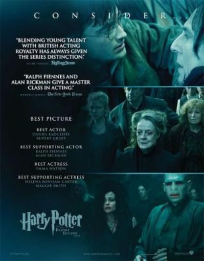 Affiches pour les Oscars et nomination d'Emma Watson