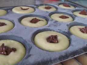 Petits gâteaux au coeur Nutella