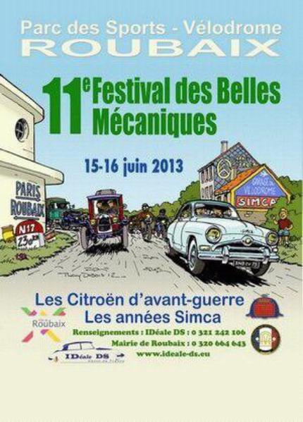 11Festival des belles mecanique le 15et 16 JUin 2013 a Roubaix.