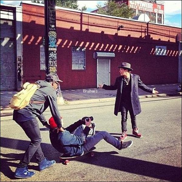 14.10.2012 - Bruno à fait un shooting photo dans les rues de New-York