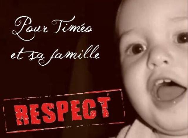 Pour Timéo et sa famille respect